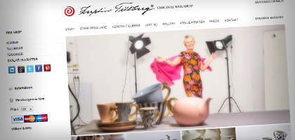Kerstin Tillberg - Original Web Shop - Ocuris - Graphic Design & Web Solutions